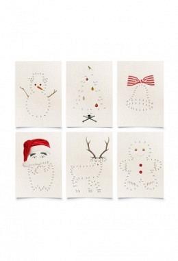 """Postkarten Weihnachten """"Malen nach Zahlen""""  - Fidea Design"""