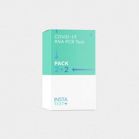 COVID-19 PCR Speicheltest Kit Family Pack 2+2