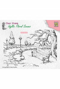 Stempel - Wintery park with bench