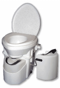 Nature's Head® Trenntoilette mit Standard Kurbel und Extra Urin-Behälter