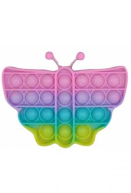 Pop it Fidget Antistress Schmetterling farbig