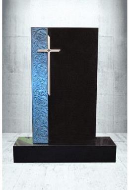 Grabstein mit Kreuz Indisch Black 50 x 90 x 14 cm