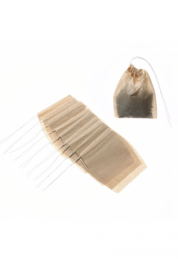 Teebeutel braun [6.5 x 9.5cm] Grösse M