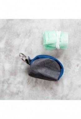 Maske-Müüsli / Schlüsselanhänger-Etui dunkelgrau