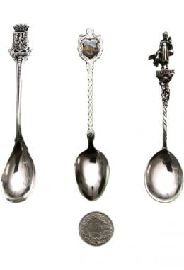 """Souvenir Löffel """"Apeldoorn"""", """"Bellwald"""", """"Göttingen"""", teilw. Silber"""