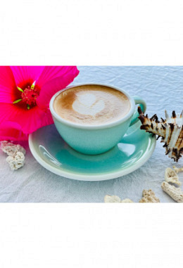 Loveramics Cappuccino inkl. Unterteller basil