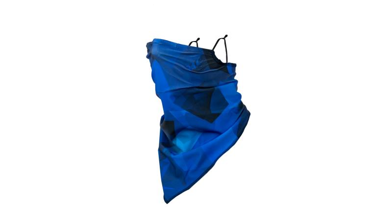 ViralOff-Filter Mask Tube blau gemustert
