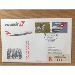 Erstflug B747 Zürich Chicago