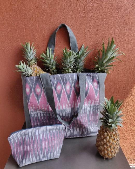 Beach Bag & Pouch - Pink