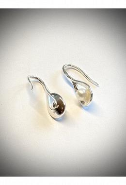 Ohranhänger 925 Silber mit Süsswasserperle
