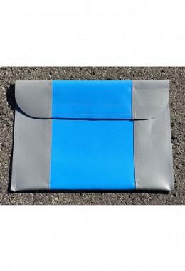 Pferdpass Tasche grau/blau/grau