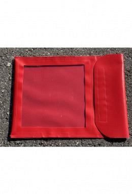 Pferdepass Tasche rot mit Sichtfenster