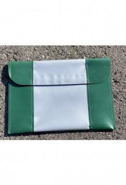Pferdepass Tasche grün/silber/grün