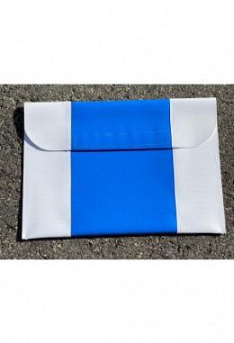Pferdepass Tasche weiss/blau/weiss
