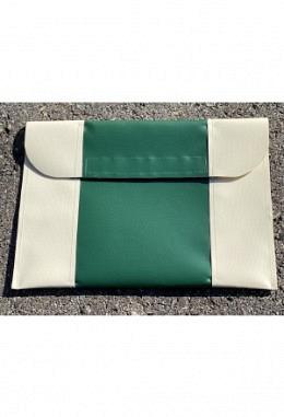 Pferdepass Tasche creme/grün/creme