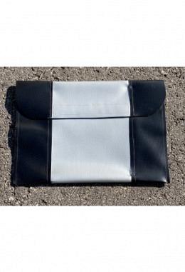 Pferdepass Tasche schwarz/silber/schwarz