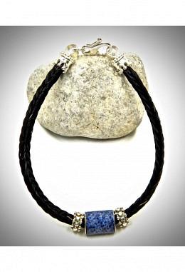 Armband aus Pferdehaar mit 925 Silber und Sodalit Anhänger