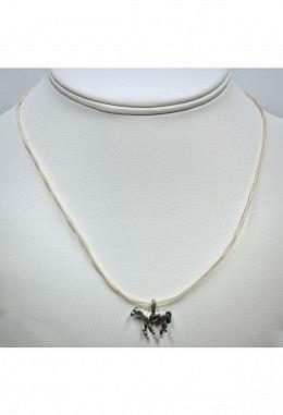 Halskette aus Pferdehaar gedreht mit Pferdeanhänger