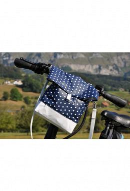 Fahrradlenker Tasche blau
