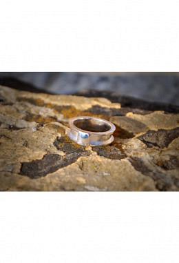 Fingerring zum befüllen 925 Silber mit Platte