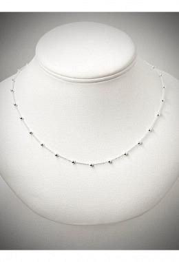 Halskette mit Kugeln 925 Silber SIK25
