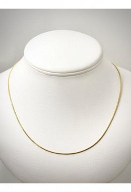 Schlangenkette Silber vergoldet 1 mm SIK12