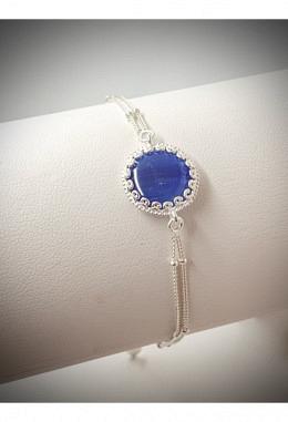 Armband 925 Silber mit Kyanit AB57