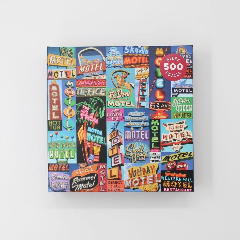 Puzzle Vintage Motel Signs 500 Teile
