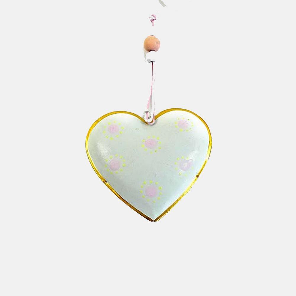 Herz aus Metall zum Hängen Pastellgrün