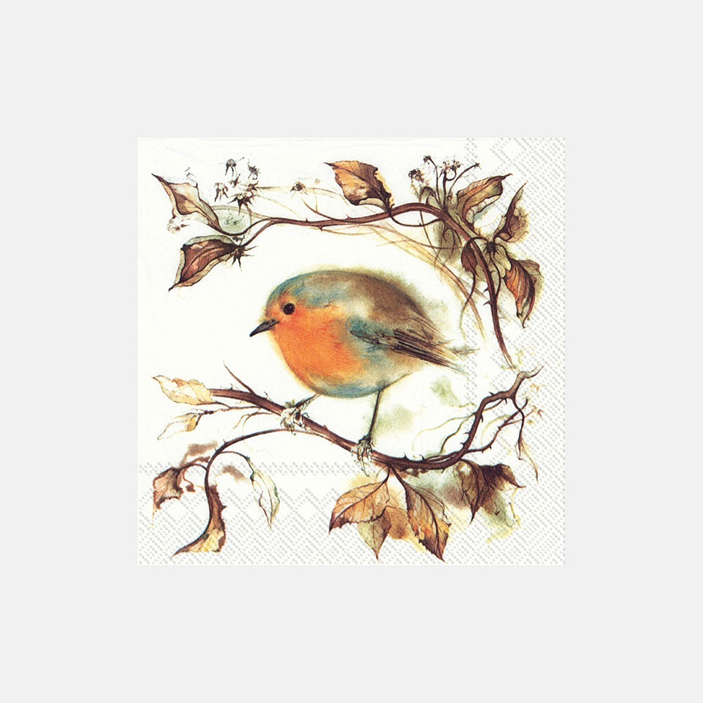 Serviette Lunch Red robin