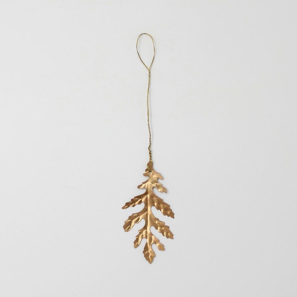 Eichenblatt goldfarbig