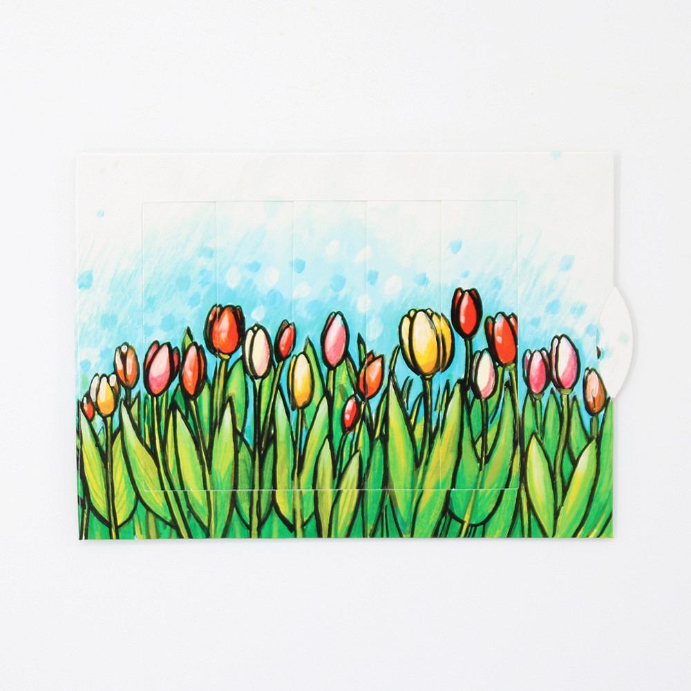 Lebende Karte Tulpen